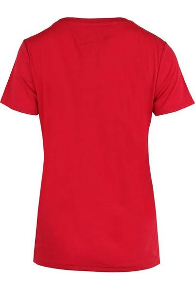 Tommy Hilfiger Kadın T-Shirt Dw0Dw04070-690