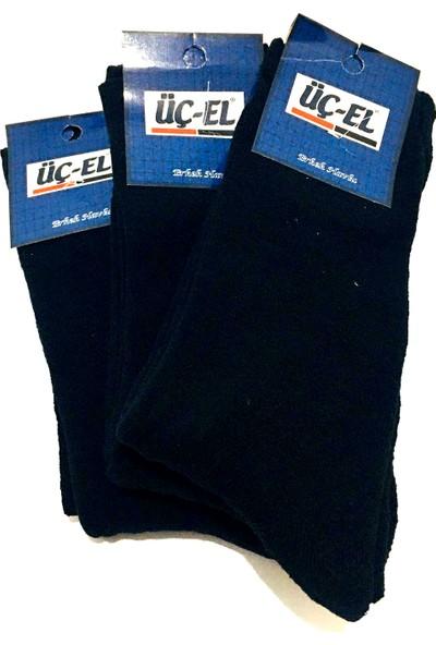 Erkek Siyah Kalın Termal Çorap 3'lü