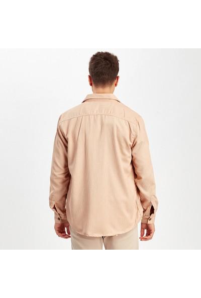 Manche Bej Çift Cep Kapaklı Gömlek | ME20W112311