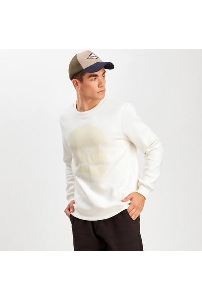 Manche Ekru Erkek Sweatshirt | ME19W224276