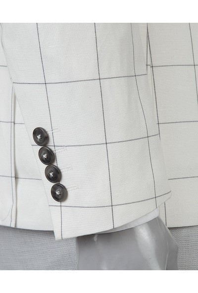 Twn Süper Slim Fit Beyaz Kombinli Takım Elbise