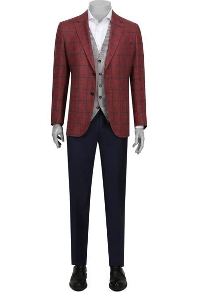 D's Damat Regular Fit Kiremit Kombinli Takım Elbise