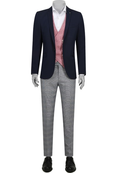 Tween Slim Fit Lacivert Kombinli Takım Elbise