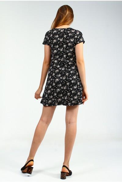 Collezione Kadın Siyah Slim Elbise Elodav