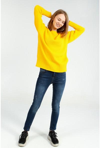 Collezione Kadın Sarı Regular Kazak Neodor