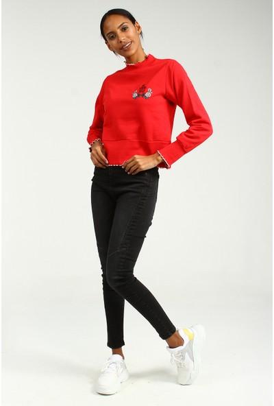 Collezione Kadın Kırmızı Regular Sweat Shirt Malvina