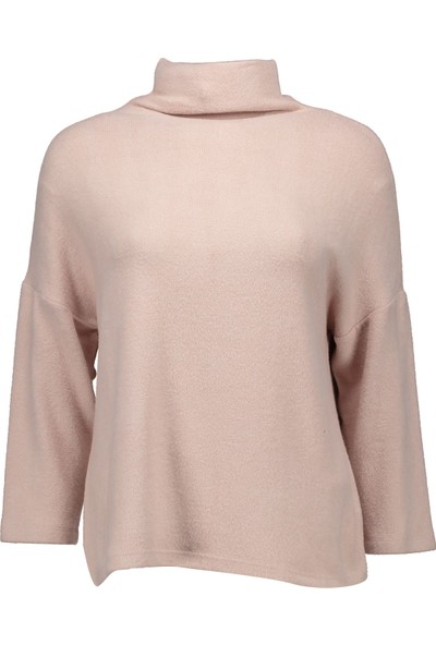 Collezione Kadın Pudra Regular T-Shirt Nisera