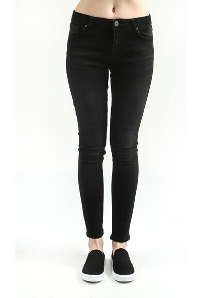 Collezione Kadın Siyah Superskinny Pantolon Volante