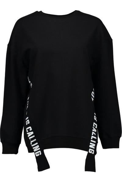 Collezione Kadın Siyah Regular Sweat Shirt Flaminia