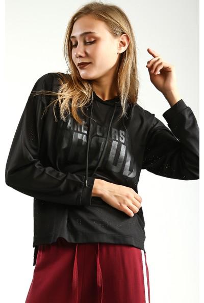 Collezione Kadın Siyah Sweat Shirt Siena