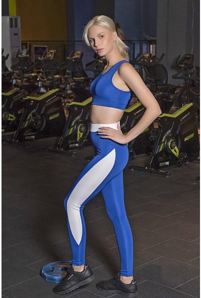 Lilyum Sports Spor Tayt Yoga Pilates Giyim - Maya Design Saks - Beyaz