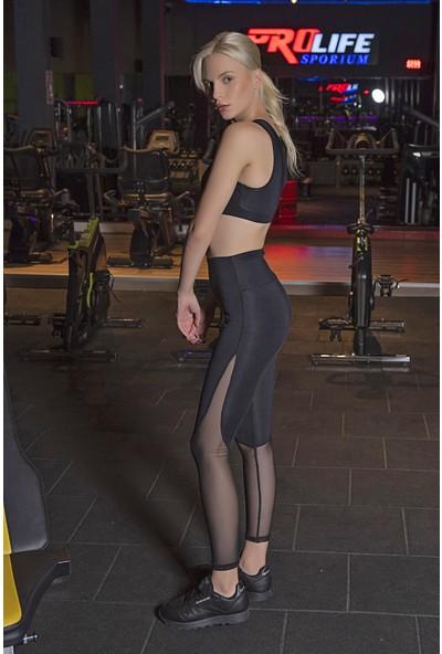 Lilyum Sports Spor Tayt Yoga Pilates Giyim - Olympos Tüllü Tayt