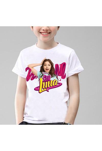 TakeTshirt Soy Luna Çocuk Tişört Beyaz Unisex
