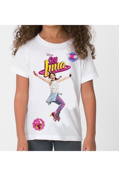 TakeTshirt Soy Luna Çocuk Tişört Beyaz Unisex Kesimli