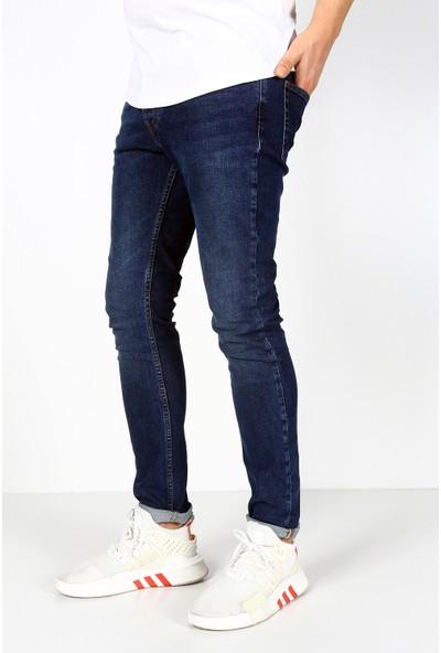 Trend Setter Koyu Mavi Erkek Slim Fit Jeans