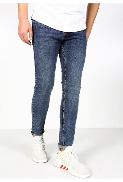 Trend Setter Erkek Açık Mavi Jeans Slim Fit