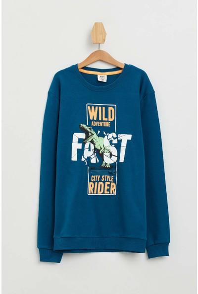 DeFacto Slogan Baskılı Sweatshirt
