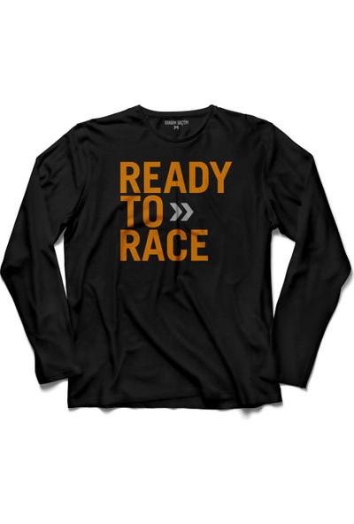 Kendim Seçtim Ktm Ready To Race Motosiklet Logo Uzun Kollu Tişört