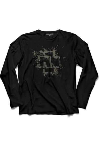 Kendim Seçtim Rammstein Till Lindemann Logo Uzun Kollu Tişört