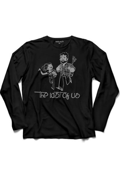Kendim Seçtim The Last Of Us Joel Vs Elite Silüet Logo Uzun Kollu Tişört