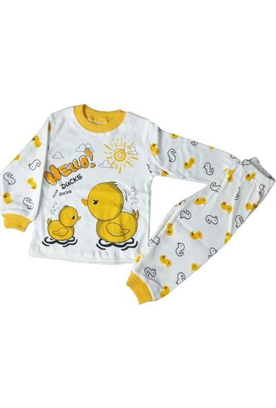 Hippil Baby Süper Mini Ördekli Desenli Pijama Takımı