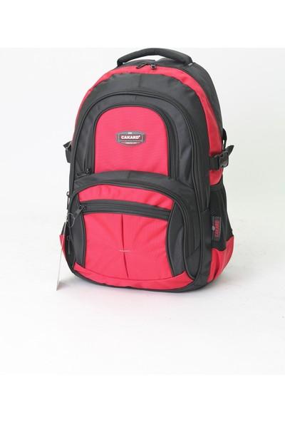 Cakard Laptop Bölmeli Sırt Çantası 4001-4 Kırmızı