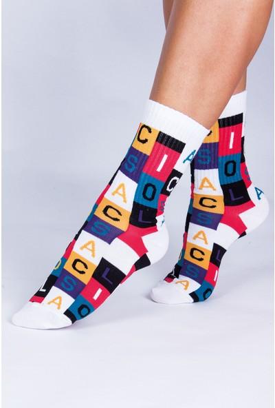 Butik Kafası Social Harf Desenli Çorap Unisex