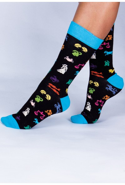 Butik Kafası Burç Desenli Çorap Unisex
