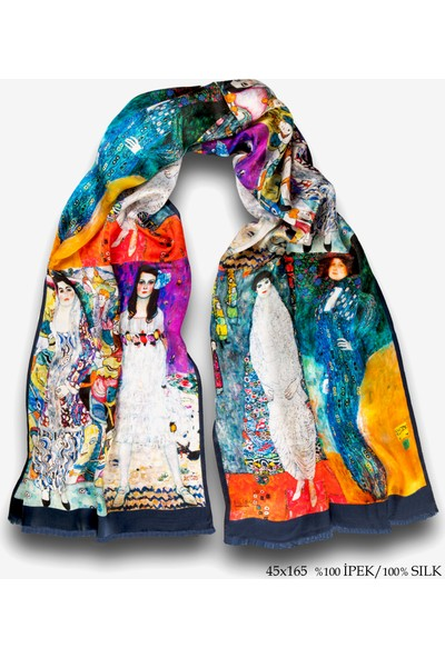Galiga İpek Fular - Klimt- Women