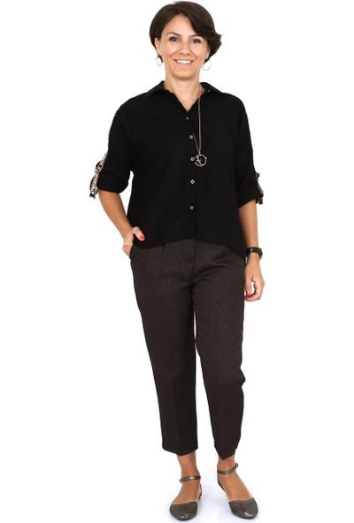 Tasarım Atölyesi Kadın Siyah Kadife Gömlek