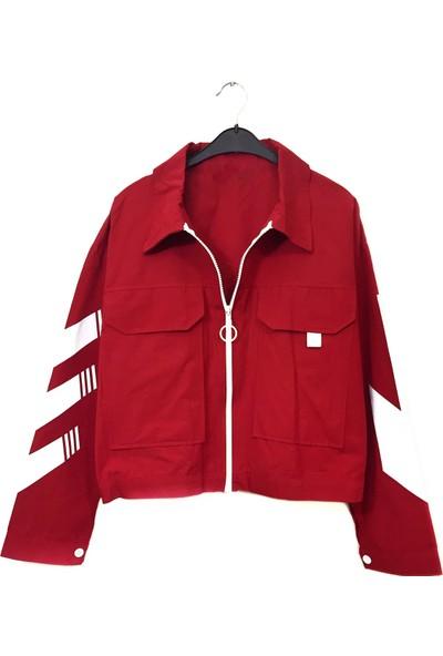 Siyo Butik Kırmızı Ceket Yağmurluk