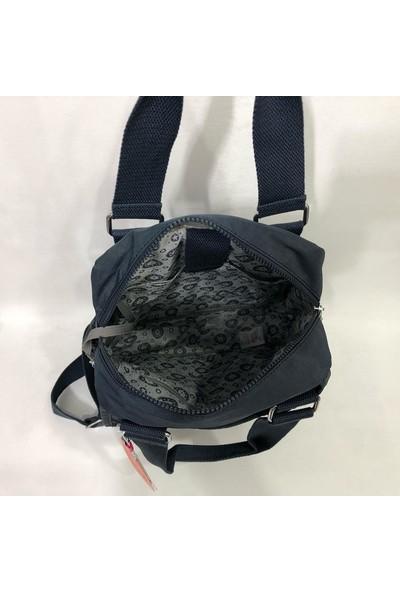 Smart Bags Kumaş Kadın Sırt ve El Çantası 37CM27 cm Lacivert