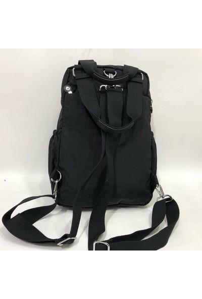 Smart Bags Kumaş Kadın Sırt ve El Çantası 37CM27 cm Siyah
