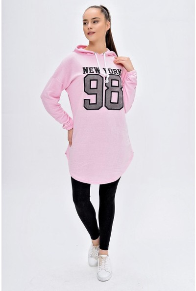 Deppoist Kadın 98 Baskı Sweatshirt Tunik