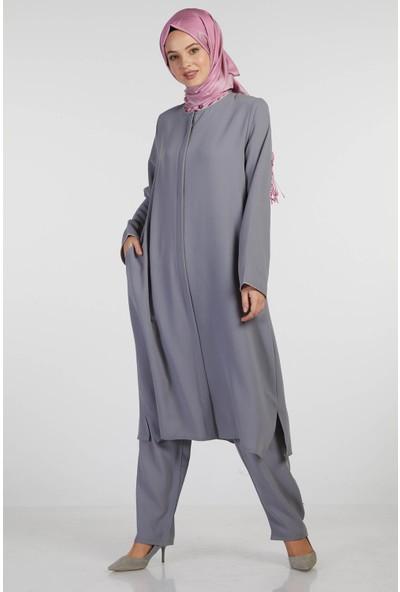 İSra Kadın Hac Umre Kıyafeti Gri