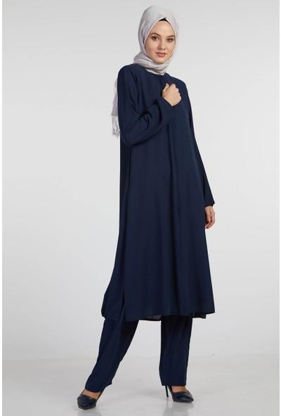 İSra Kadın Hac Umre Kıyafeti Lacivert