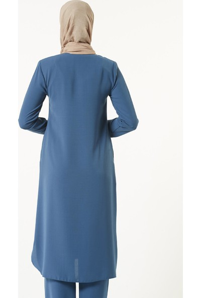 İSra Kadın Hac Umre Kıyafeti Mavi