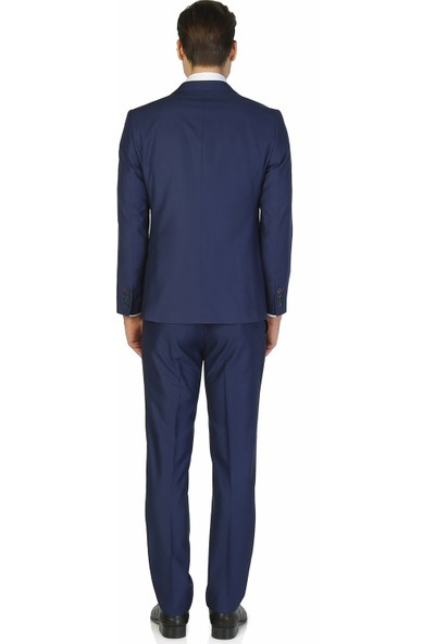 Morven Morven Basic Slimfit Takım Elbise Mavi