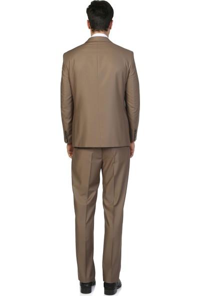 Morven Diamond Regular Fit Takım Elbise Bej