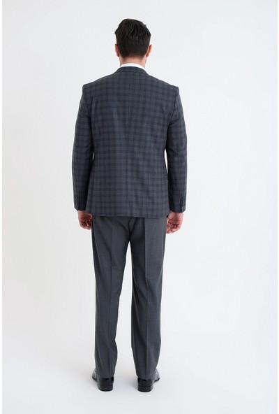 Morven Platin Dinamik Fit Yelekli Takım Elbise Gri