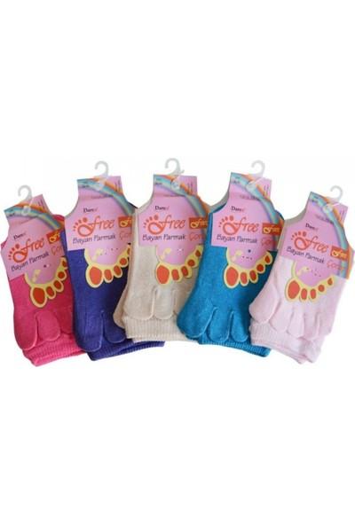 Daren Bayan Parmak Çorap (6'lı Ekonomik Paket)
