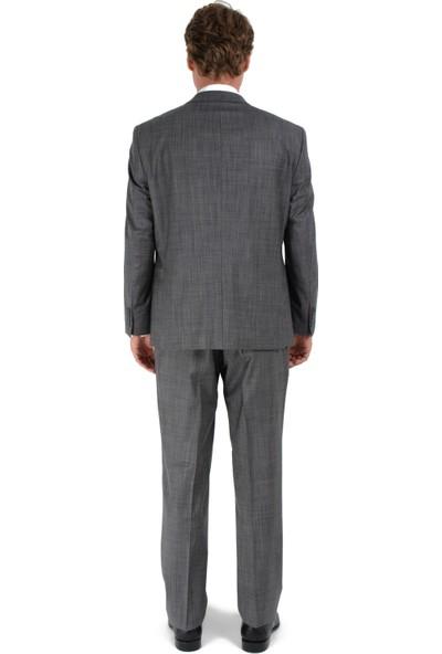 Morven Regular Fit Filafil Takım Elbise Gri