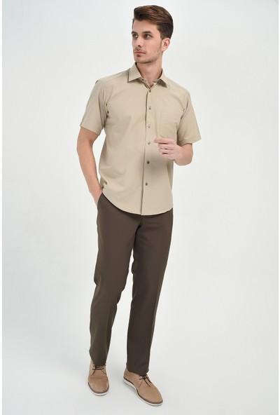 Morven Classic Regular Fit Pantolon Kahverengi