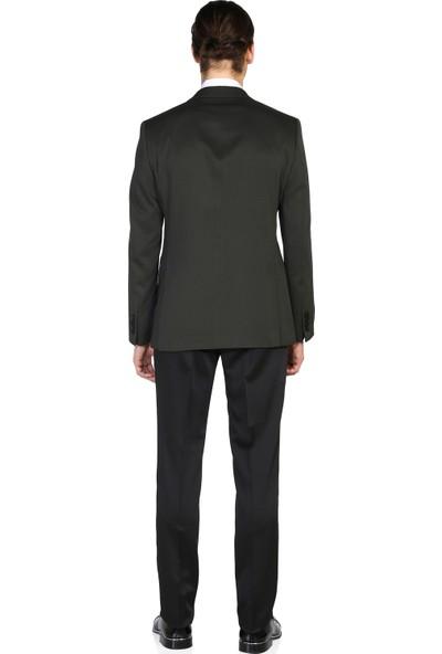 Morven Viyana Slim Fit Damatlık Takım Elbise Yeşil
