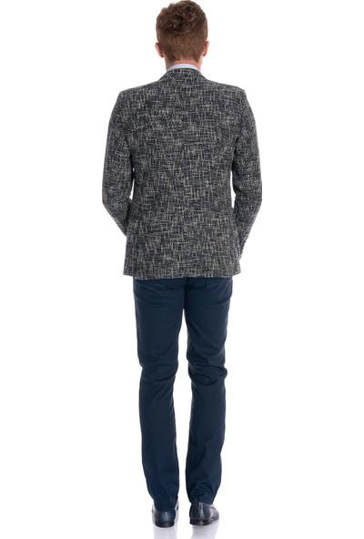 Morven New Slim Fit Fitilli Ceket Lacivert