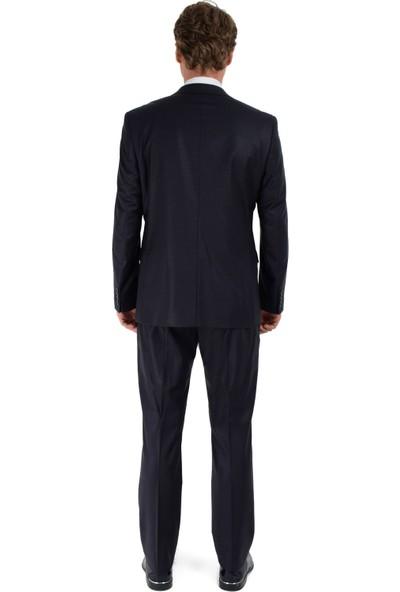 Morven Ares Yıldız Dinamik Fit Takım Elbise Lacivert