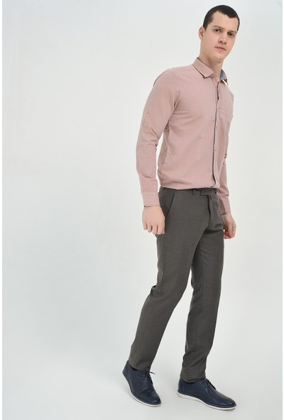 Morven Slim Fit Pantolon Füme