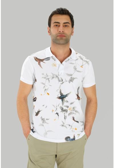 Ds Damat Slim Fit Beyaz Erkek T-Shirt