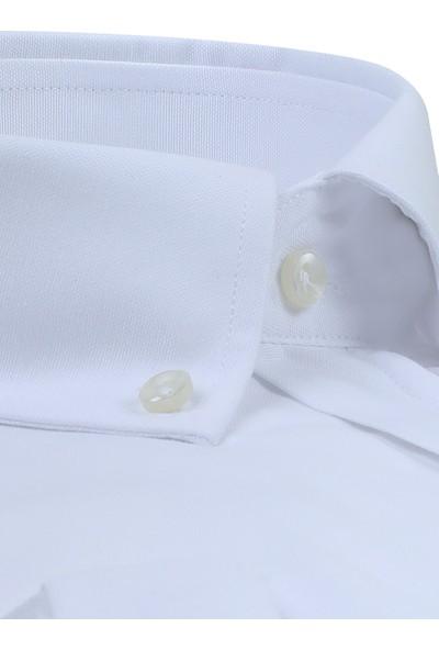 Ds Damat Regular Fit Beyaz Erkek Gömlek