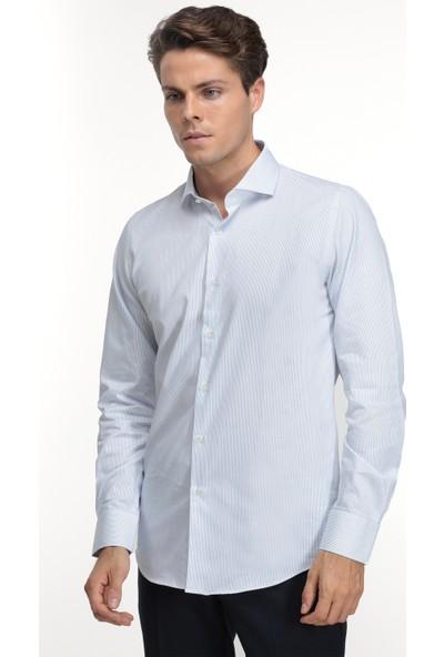 Ds Damat Slim Fit Mavi Erkek Gömlek